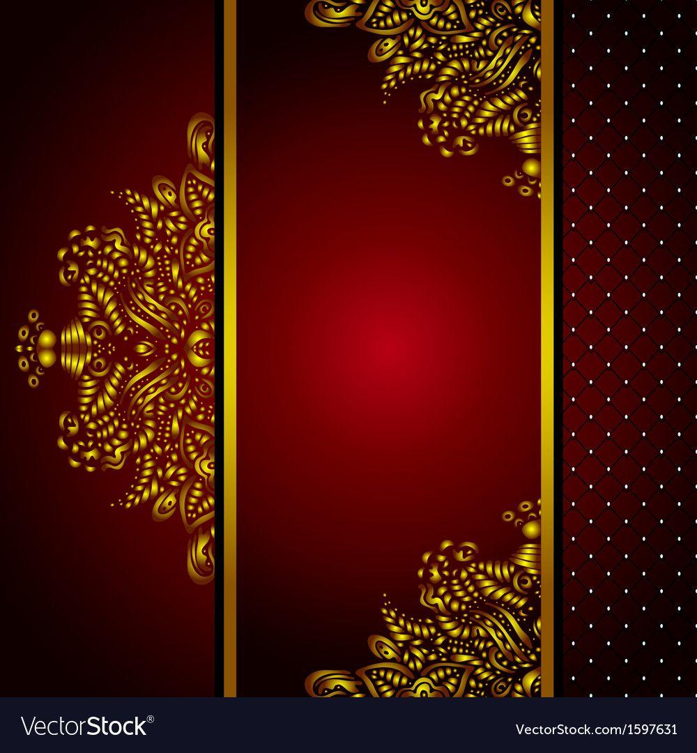Royal Golden Frame Menu card vector image on Menu cards