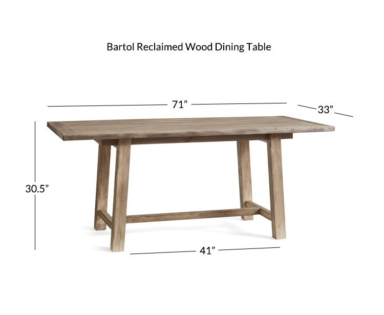 33 Wide Dining Table Reclaimed Wood Dining Table Wood Dining Table