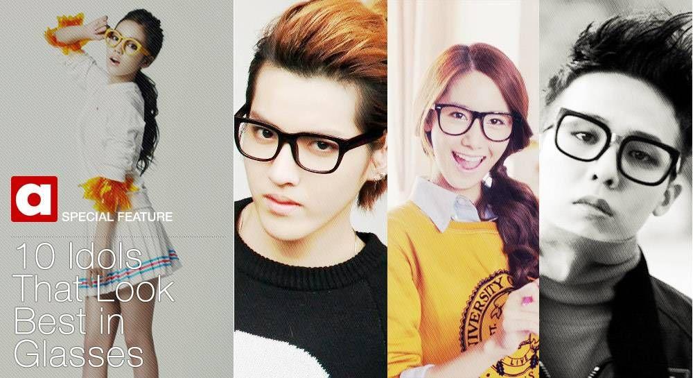 10 Idols That Look Best In Glasses Allkpop Com Pinterest
