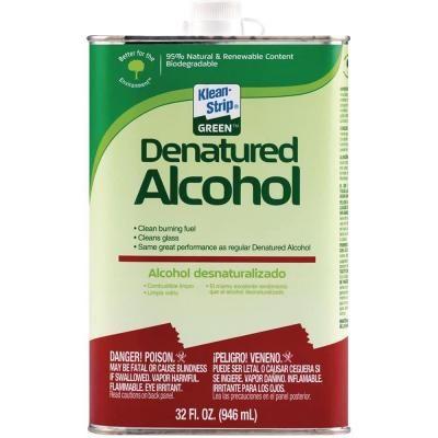 Klean-Strip 1-qt  Green Denatured Alcohol-QKGA75003 Quickly