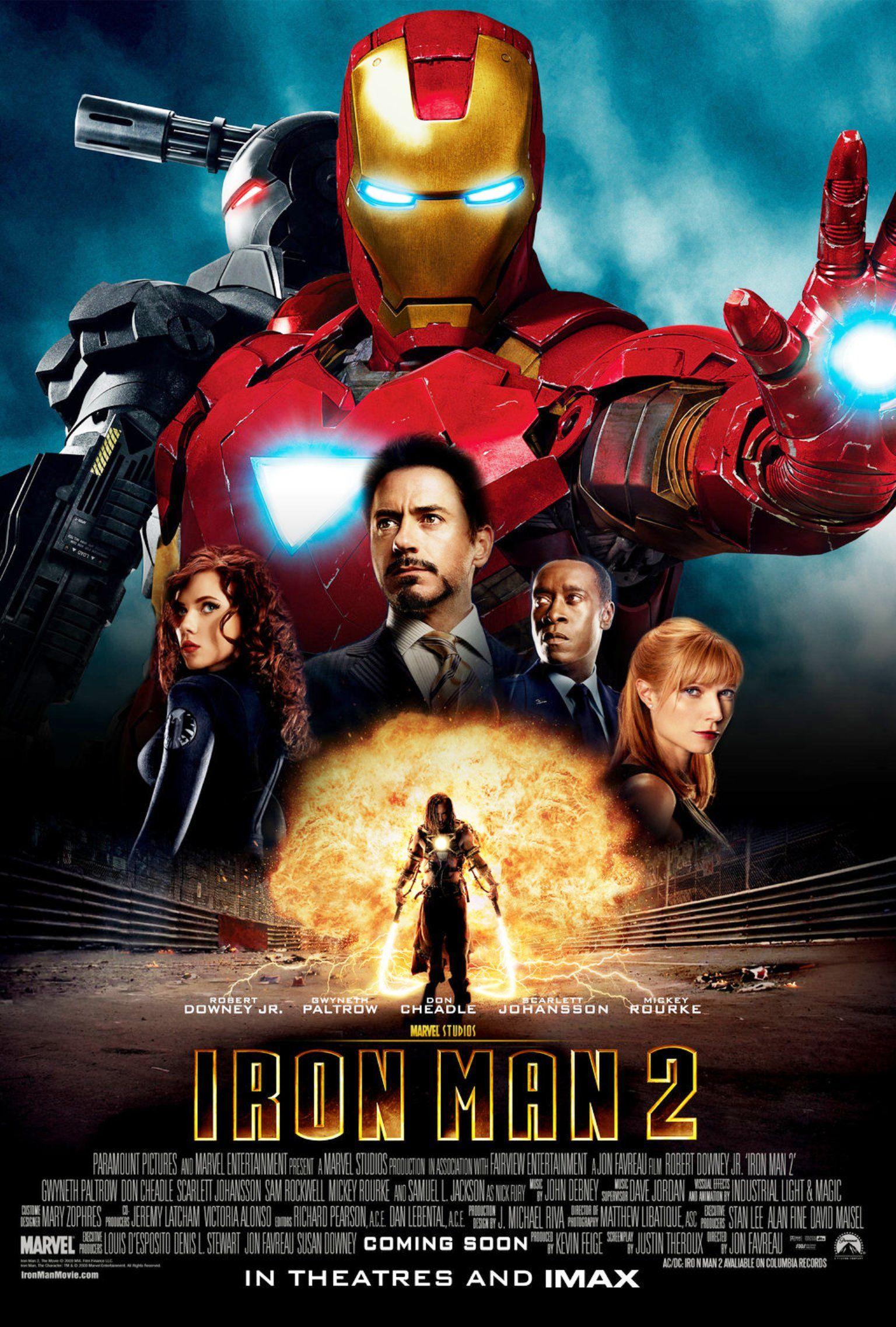 """Iron Man 2"" movie poster, 2010.   Robert Downey Jr ..."