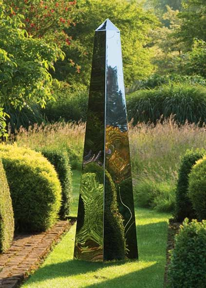 A Stainless Steel Garden Obelisk Though Not As Accurate