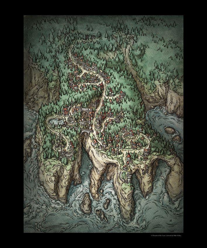 Illustration Prints   Crazy Cartography in 2019   Fantasy