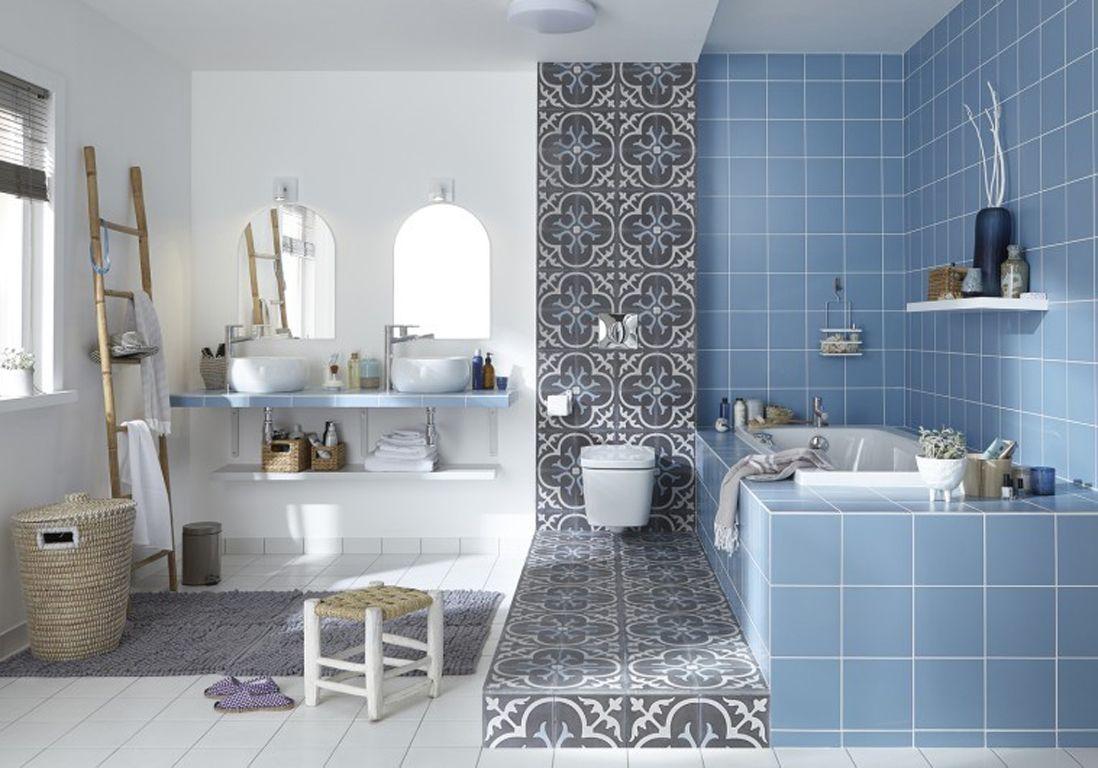 Beautiful Salle De Bain Noir Bleu Gallery - Amazing House Design ...