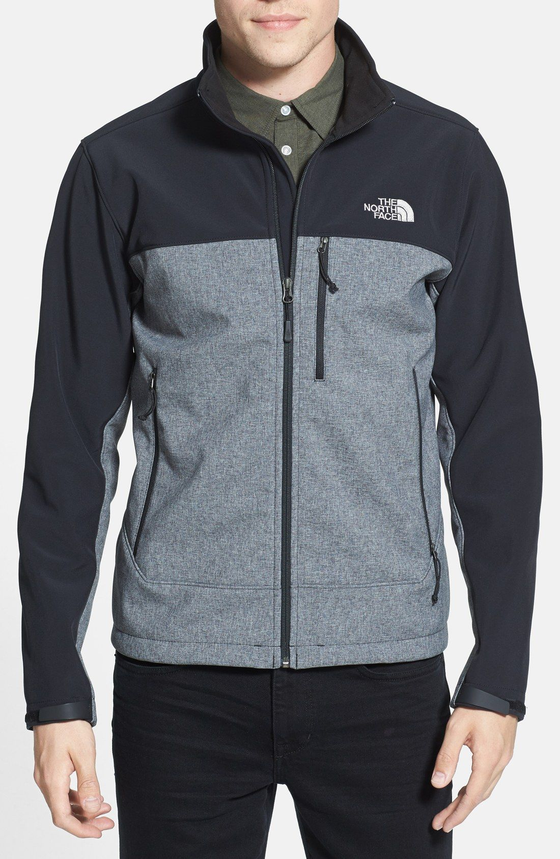 Color-blocked North Face.