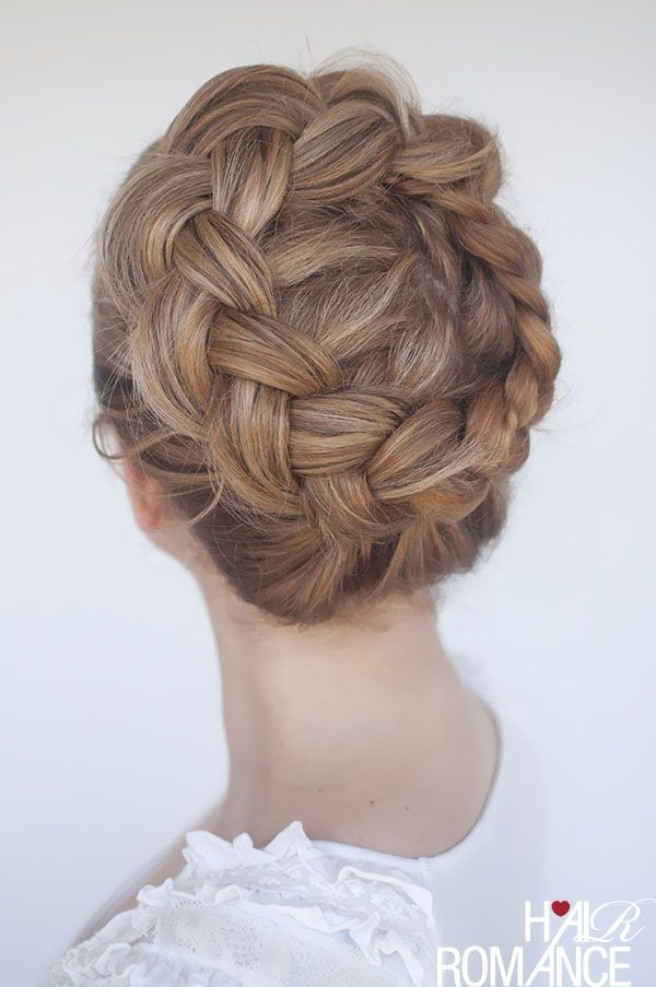New Braid Tutorial The High Braided Crown Hairstyle Pinterest