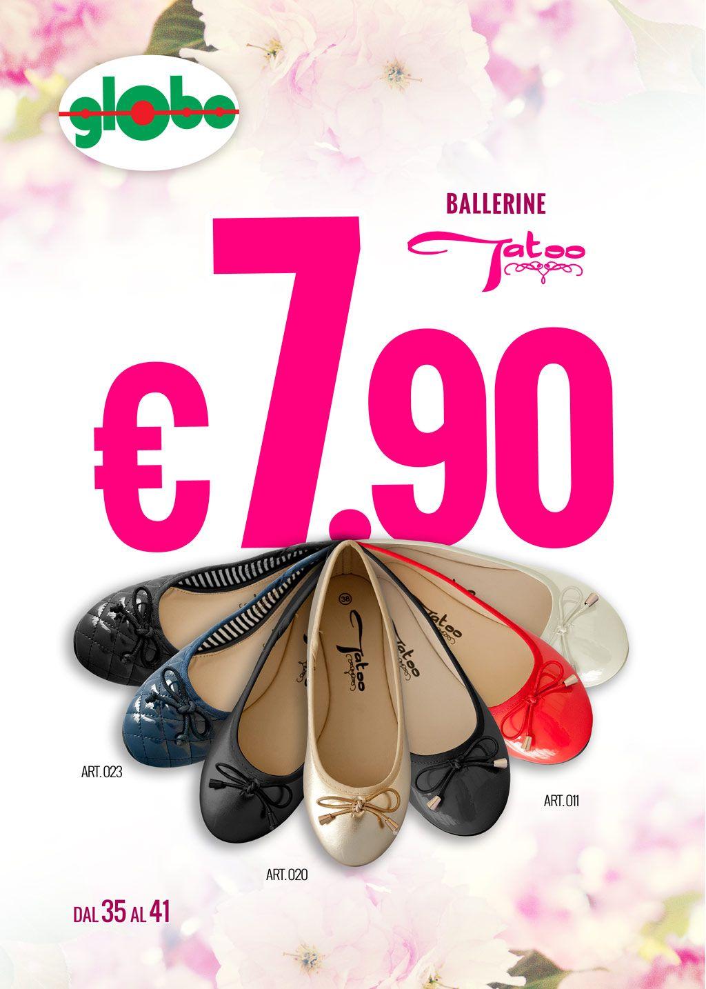 Nuovissime Ballerine Tatoo a solo € 7.90 !!