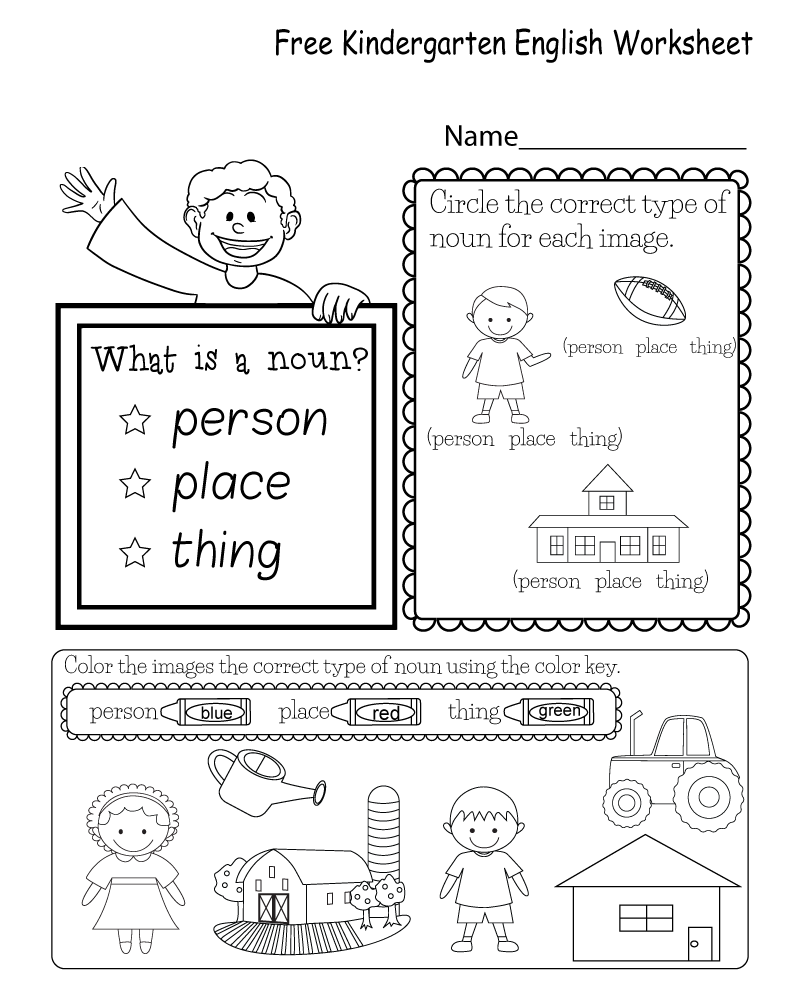 Kindergarten English Worksheets Best Coloring Pages For Kids English Worksheets For Kindergarten Kindergarten English Nouns Worksheet Kindergarten [ 987 x 800 Pixel ]