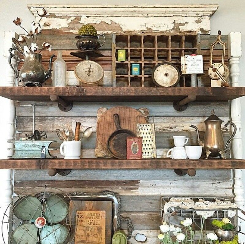 Old Kitchen Decor: LOVE This And It's A Great Way To Re-use #reclaimed 2x6's
