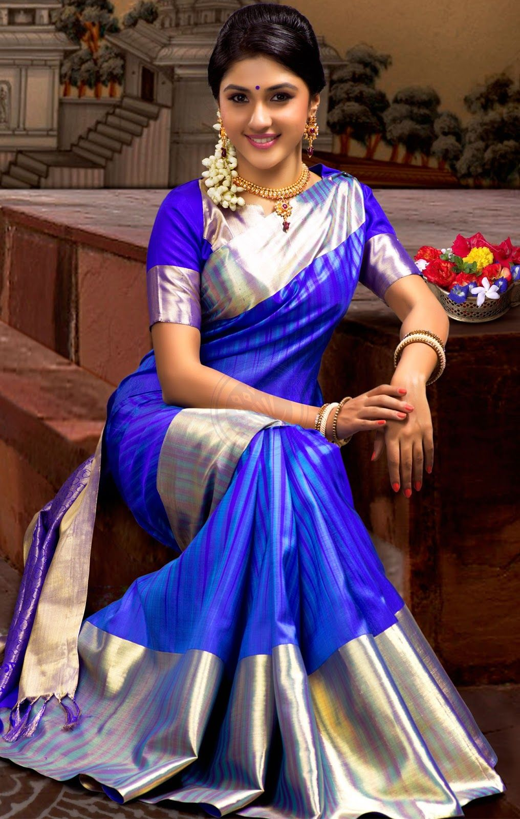 South indian bride temple jewelry jhumkis silk kanchipuram silk sarees online shopping wedding sarees kanchipuram silk sarees buy silk sarees in tamilnadu india izmirmasajfo Gallery