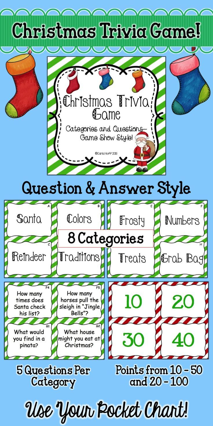CHRISTMAS TRIVIA GAME - Categories & Questions Game Show Style! | Christmas trivia, Christmas ...