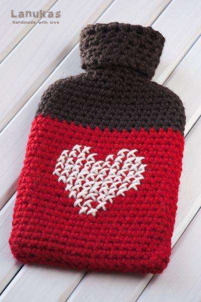 Lanukas: Funda para bolsa de agua caliente a crochet | Hot Water ...