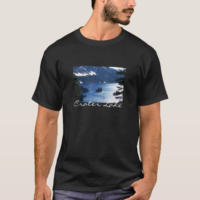 Crater Lake T-shirt Adult L Black - Apparel & Accessories , Men's