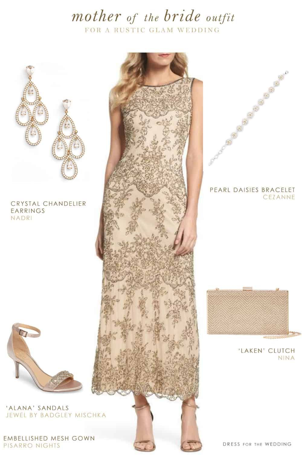 58422913ebf Neutral Gold Mother of the Bride Outfit - Perfect MOB attire for a Rustic  Wedding  motherofthebride