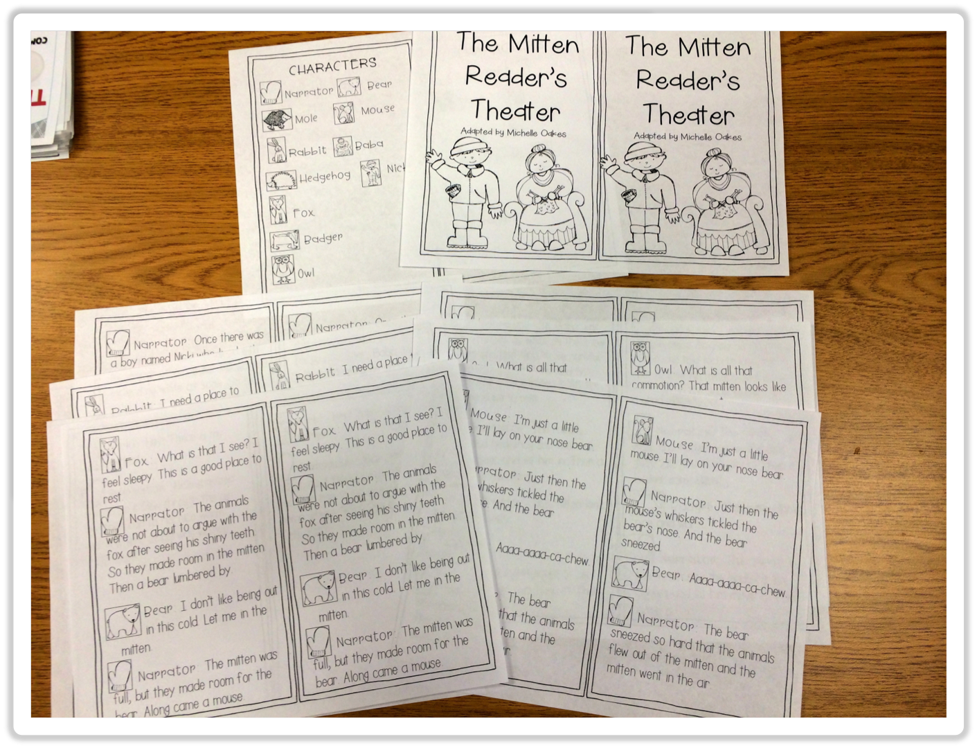 The Mitten Unit Including Reader S Theater