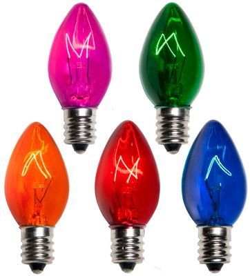 Multi C7 And C9 Bulbs Classic Holiday Style Christmas