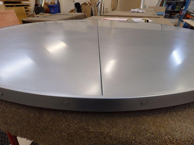 112 120cm Dia Zinc Top Satin Finish Zinc Table Zinc Sheet Interior
