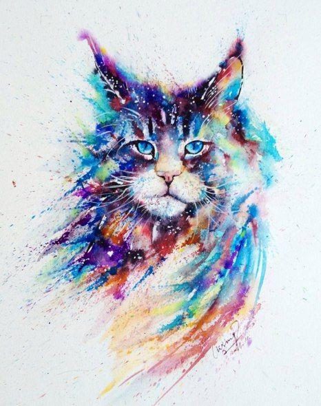 Novosti Peinture Chat Dessin Chat Peinture De Chat