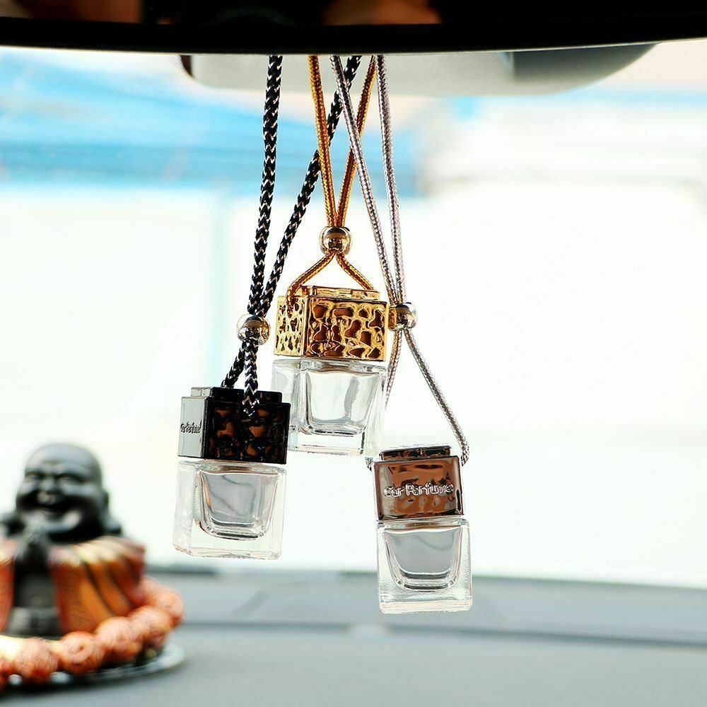 Cars Hanging Perfume Air Freshener Empty Glass Bottle For