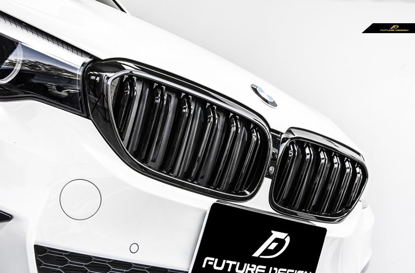 M5 Style Front Piano Black Grill Set Bmw G30 5 Series Style