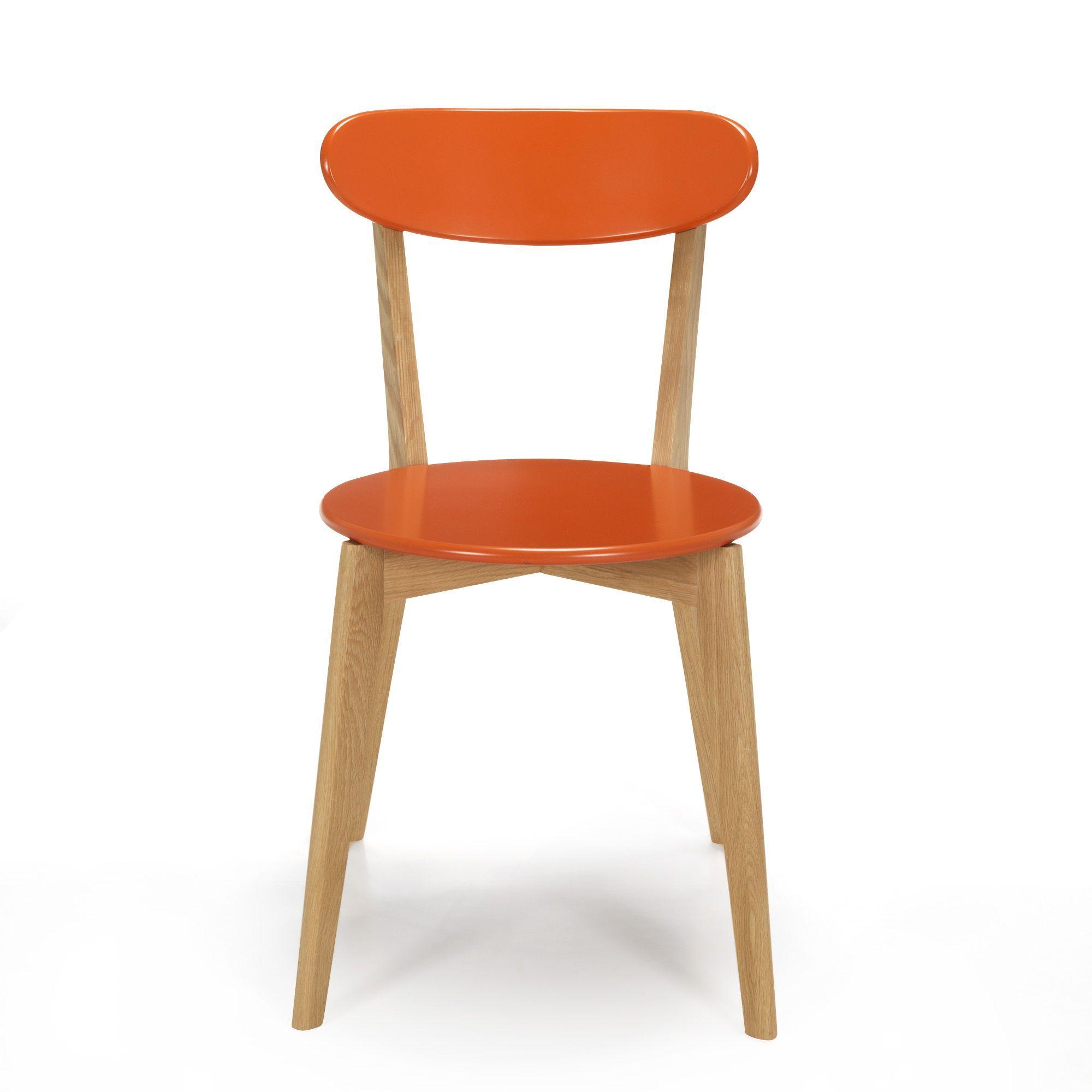 chaise design scandinave coloris corail siwa tables et chaises alinea 69 95euros fauteuil. Black Bedroom Furniture Sets. Home Design Ideas