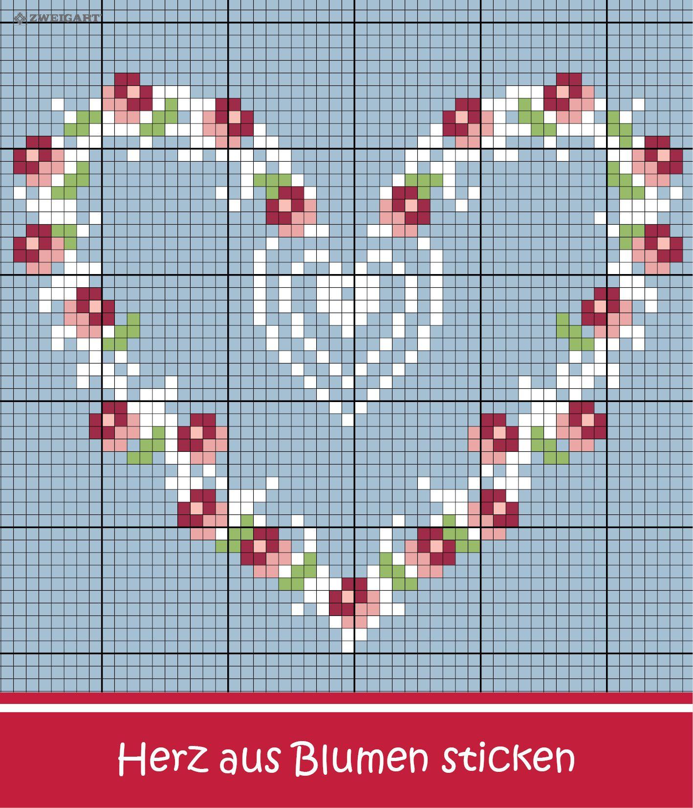 Bevorzugt Herz aus Rosen sticken - Entdecke zahlreiche kostenlose Charts zum QK33