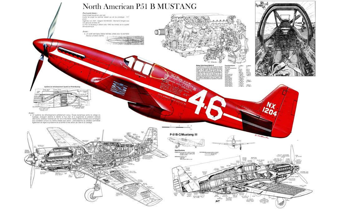 p 51 mustang wwii fighter plane cutaway poster print 22x36. Black Bedroom Furniture Sets. Home Design Ideas