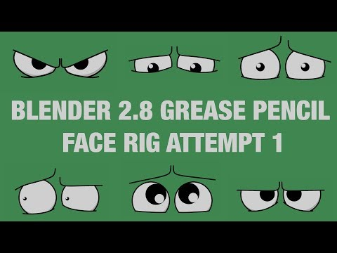 Blender 2.8 Grease Pencil Rigging A Face Attempt 1