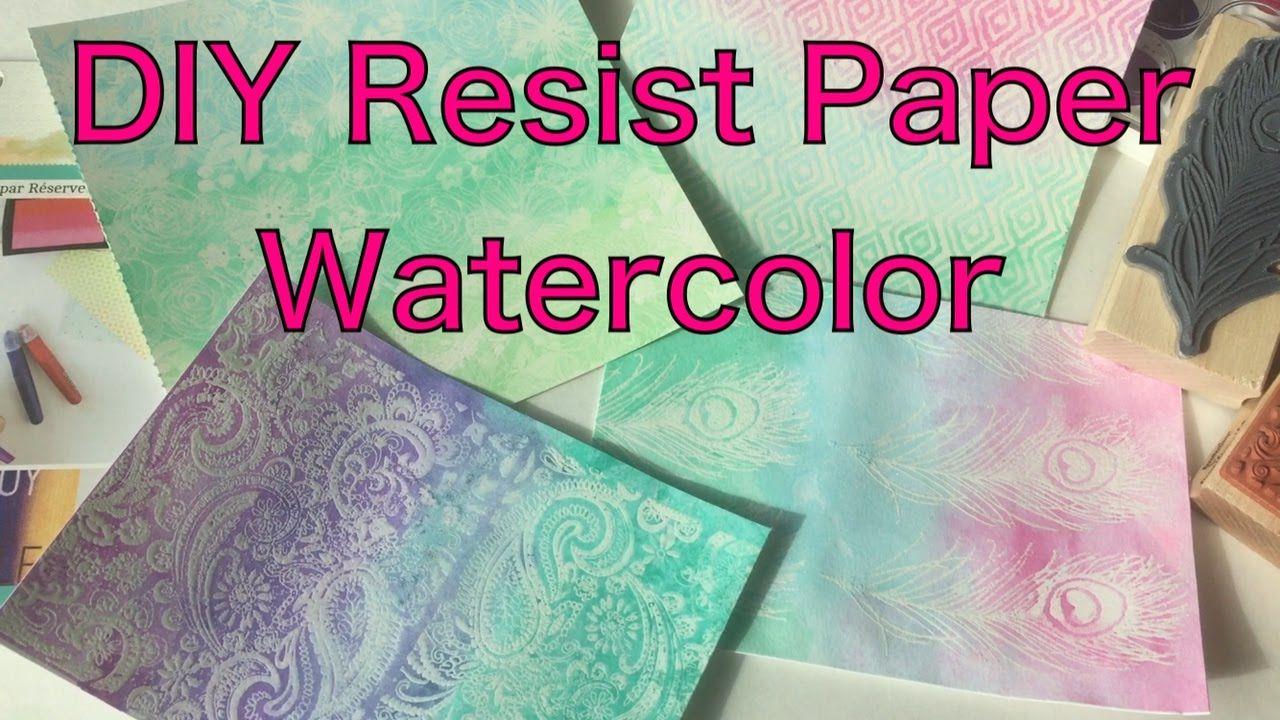 Diy emboss resist paper watercolor vs color splash