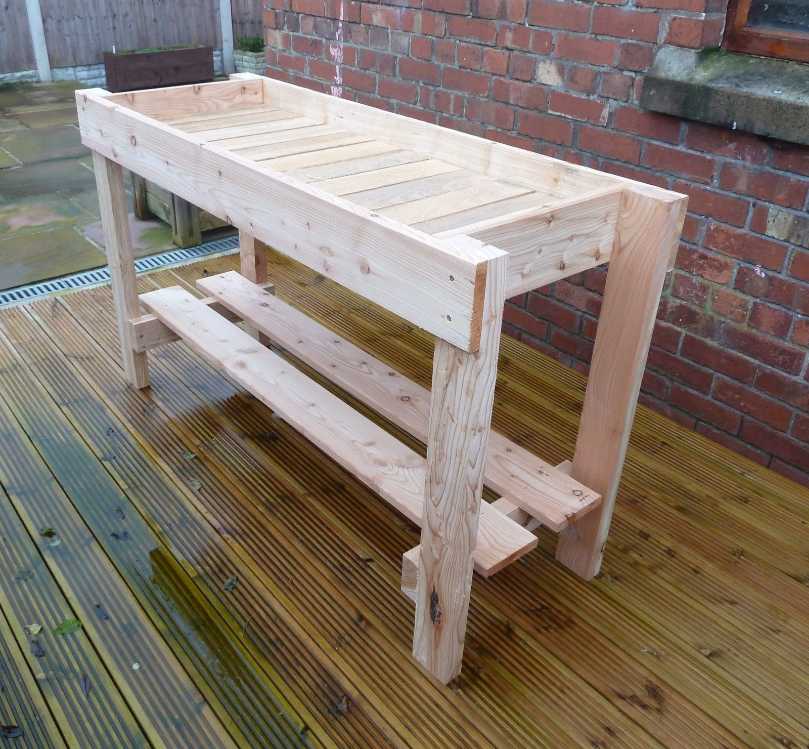 greenhouse potting table - growing table 1.45m long - great value