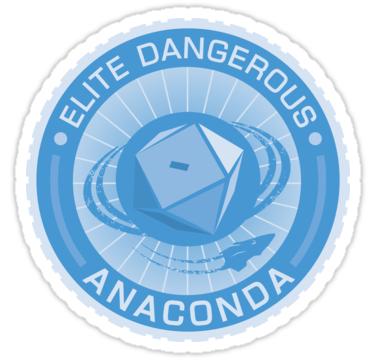 Elite Dangerous Anaconda Seal Blue Sticker By Madjack66 Red Bubble Stickers Elite Bubble Art