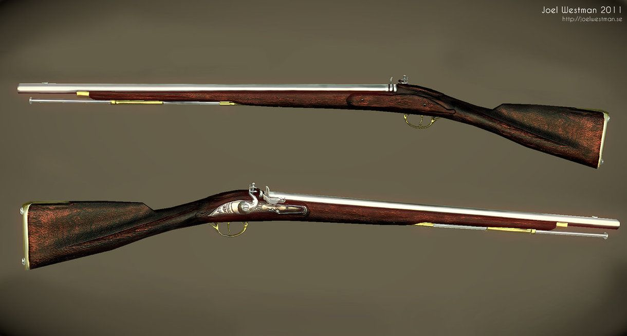 This is the Brown Bess musket, the main weapon of the