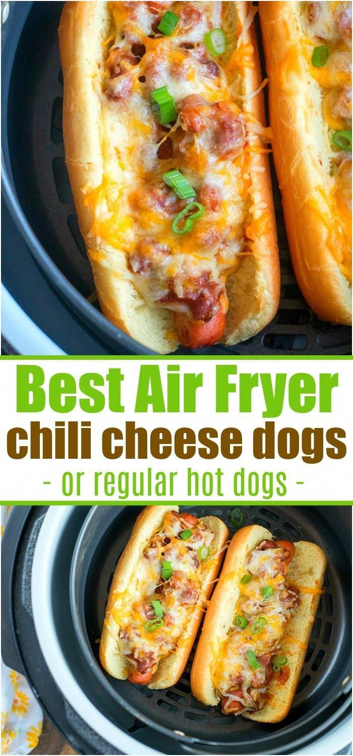 Photo of Air Fryer Hot Dogs or Chili Dogs – Ninja Foodi Hot Dogs