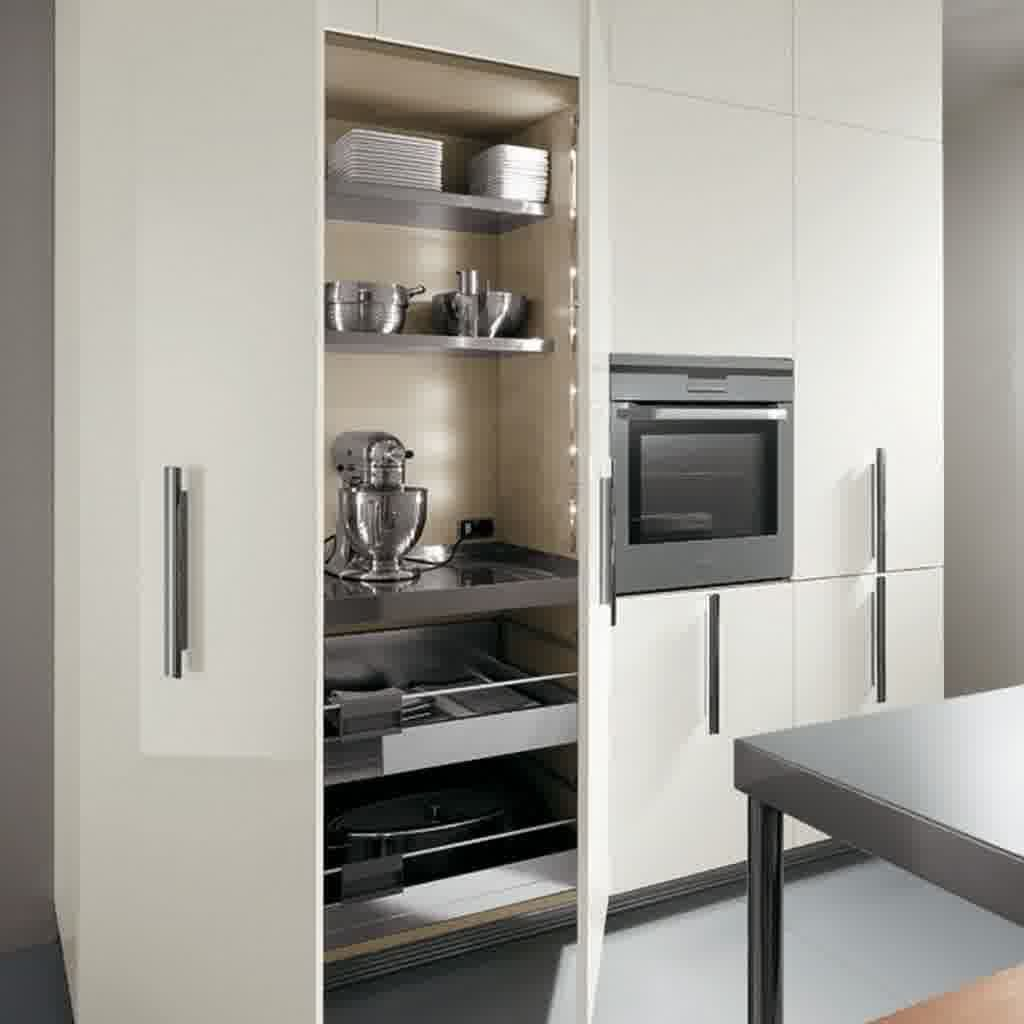 Kitchen White Standing Kitchen Cabinets With Modern Contemporary Italian And Microwave Oven For Kitchen Storag Kuchenschrank Ablage Schrank Kuche Gerateschrank