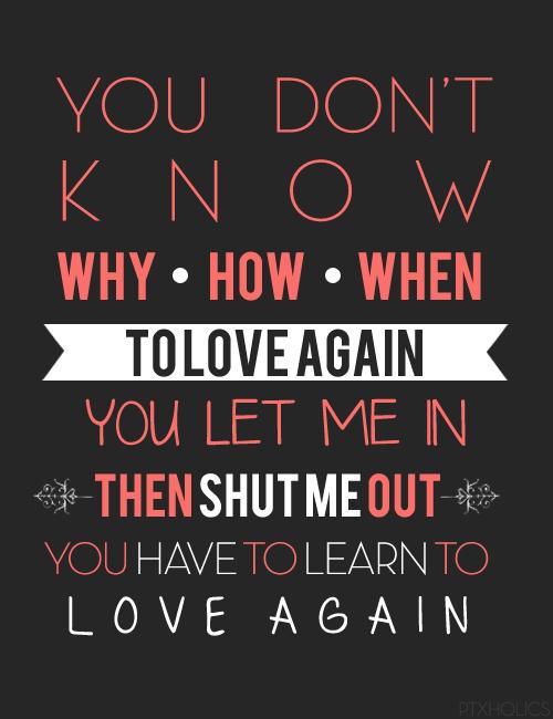 I want to love again lyrics