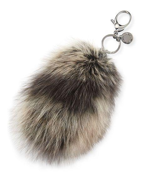 Rebecca Minkoff Fox Fur Tail Charm For Handbag Black Multi Rebeccaminkoff Bags Accessories