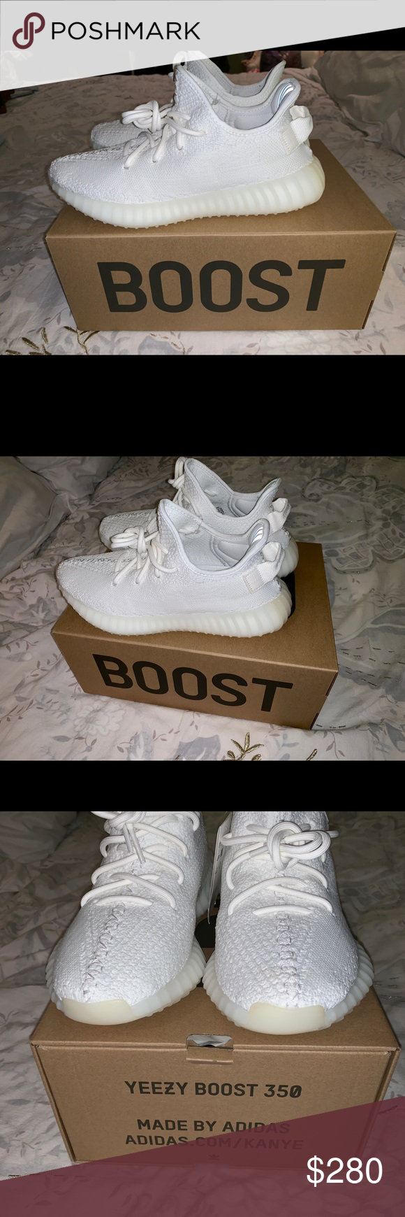 8280ca58f Yeezy Boost 350 V2 Triple White Yeezy 350 V2 Triple White Size 7 men s  Brand new with tags never worn before I wear women s size 8 and these are  too big ...