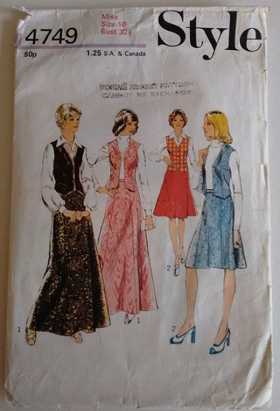Jahrgang 1970 Style 4749 Sewing Pattern Misses von CartrefEclectig ...