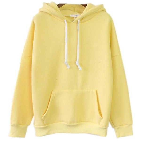 Womens Cute Harajuku Pastel Yellow Banana Hoodies ...
