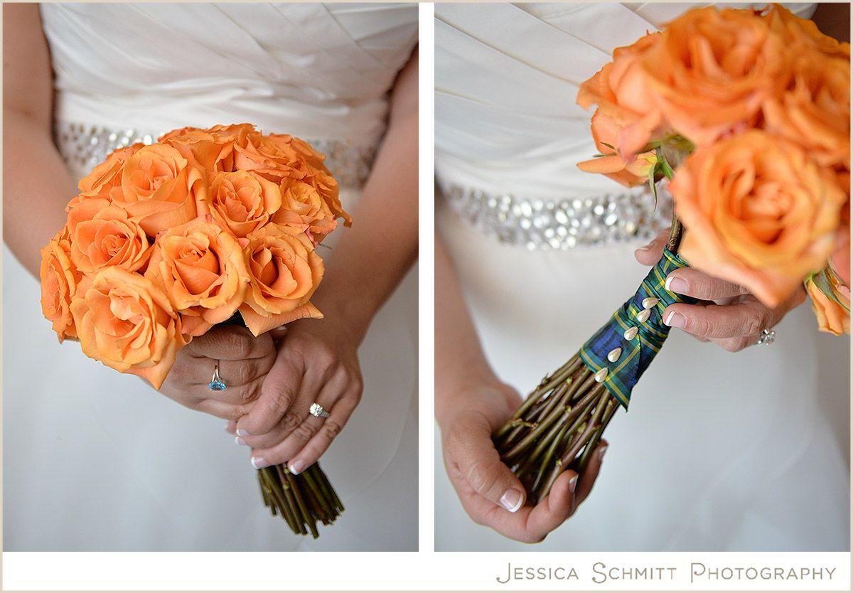 Orange Rose Wedding Bouquet By The Flower Gallery Photography Jessica Schmitt Www Jessicaschmitt