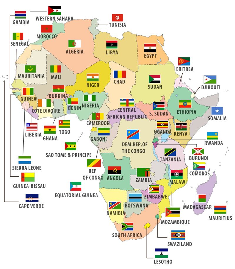 Flags of African Countries-on this site you can get any maps with or ...