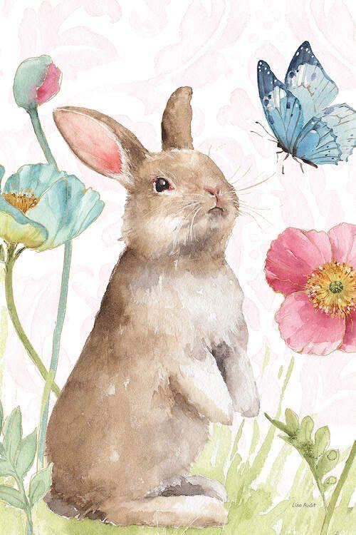 Spring Softies Bunnies II Pink - Canvas Print
