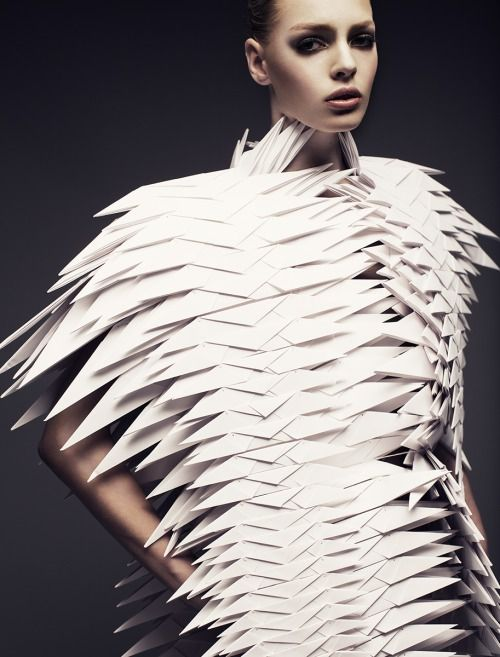 Joel Rhodin collaboration with designer Bea Szenfeld to capture her collection Haute Papier.