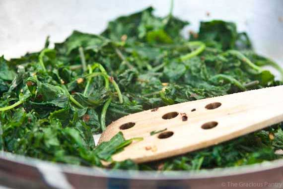 Dinner Side Item - Clean Eating Garlic Baby Kale with ...