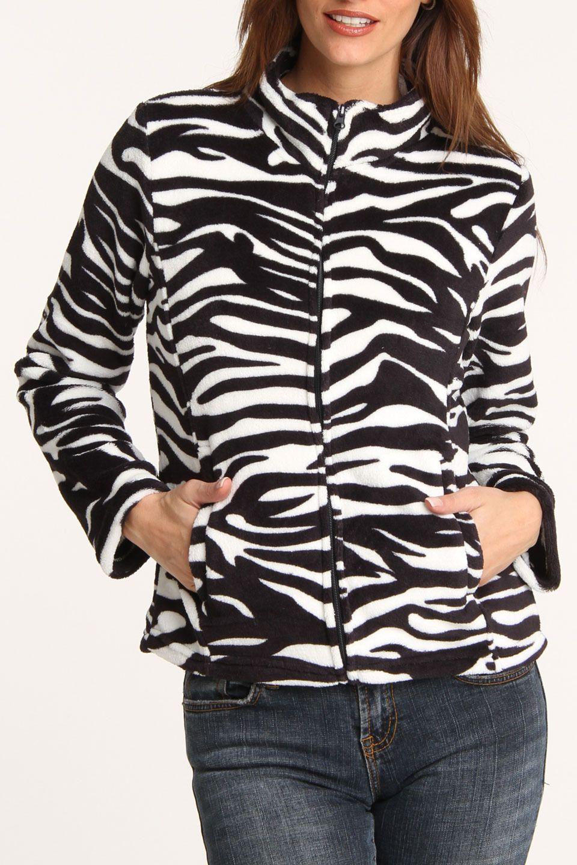 Carol Rose Amanda Fleece Jacket In Zebra