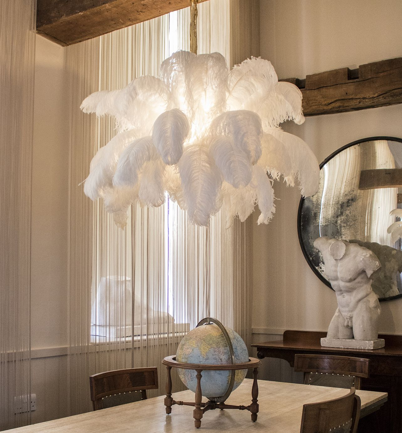 The Feather Chandelier For More Information On Our Chandeliers Please Contact Info Amoderngrandtour Com Aynhoe Park
