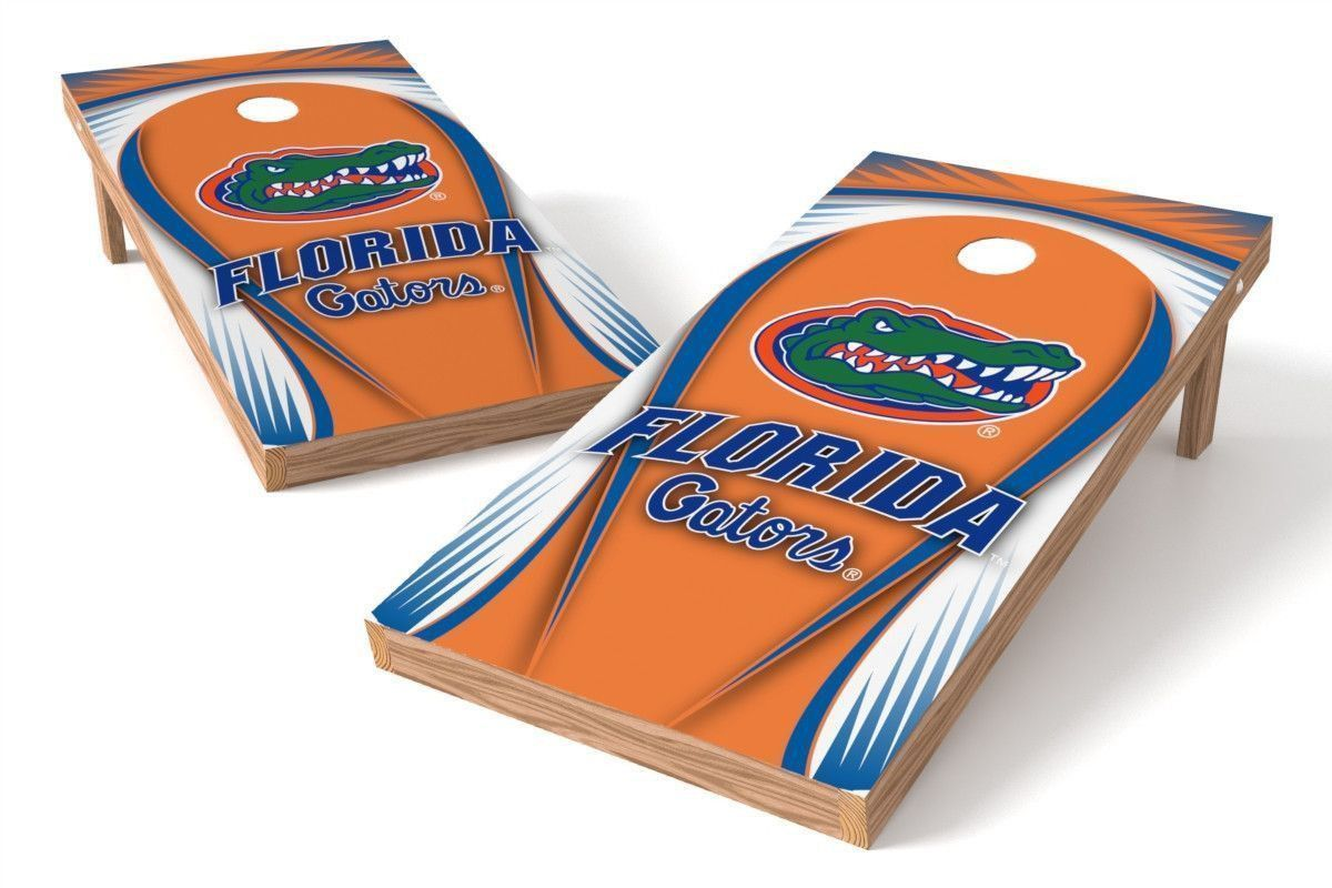 Florida Gators Cornhole Board Set - Drop (w/Bluetooth Speakers)