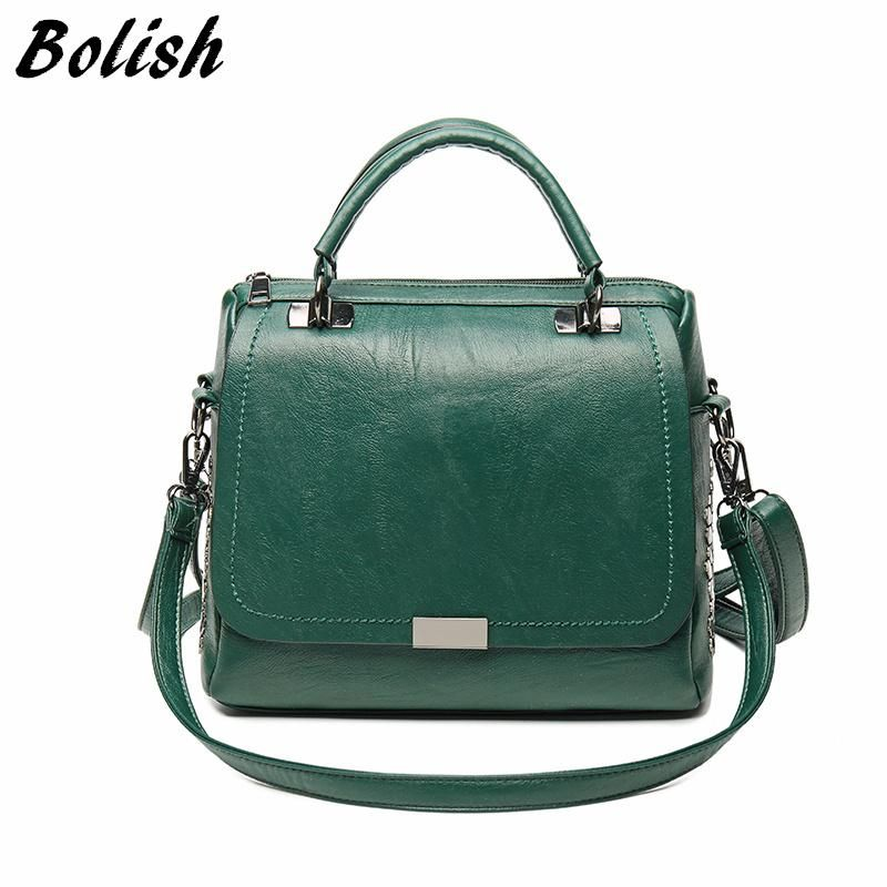 Women Messenger Bags PU Leather Sequins Shoulder Handbag Ladies Satchel Wallets