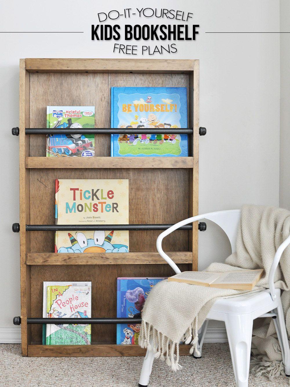 Industrial Kids Bookshelf Free Plans Bookshelves Kids Diy Kids