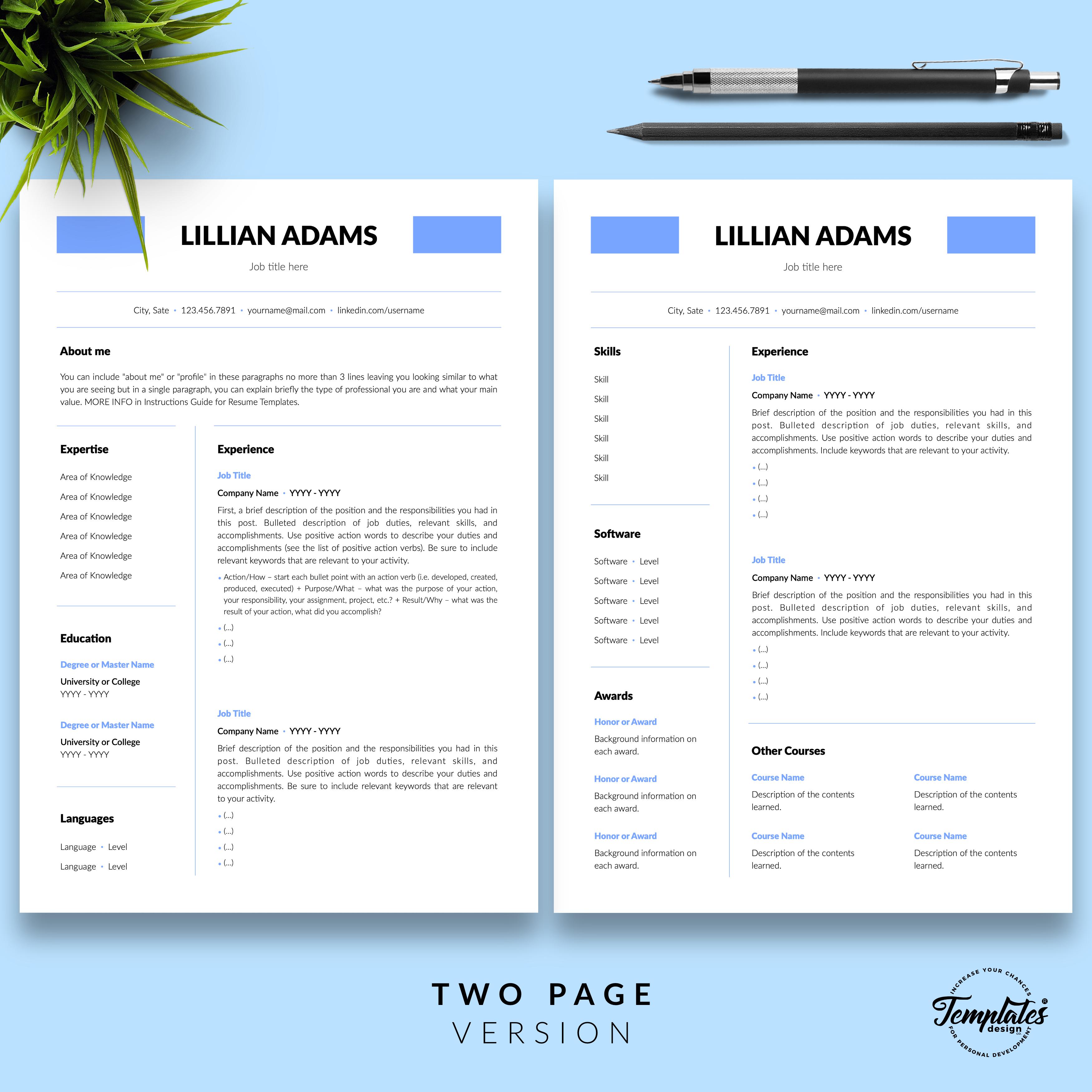 Professionelle Lebenslauf Vorlage Fur Microsoft Word Und Apple Pages Resume Templates Best Resume Template Resume